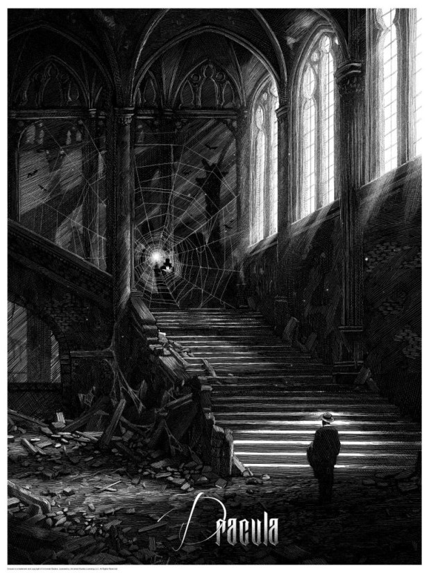 Dracula print by Nicolas Delort. Image courtesy Dark Hall Mansion