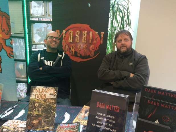 Chris Sides and Chris Travell of Redshift Press. Photo: Tony Esmond