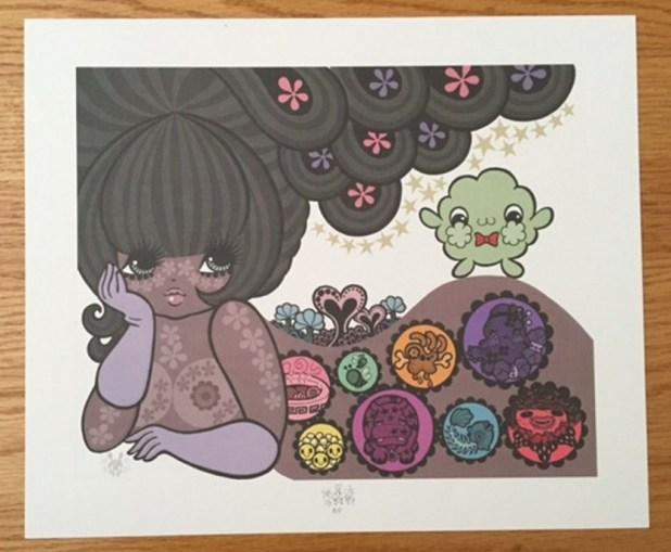 """""""Little Fluffy Gigolo Pelu"""" artist proof, art by Junko Mizuno"""