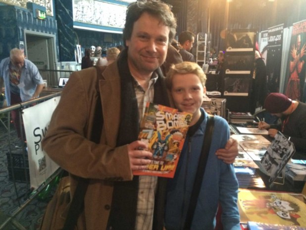 Will Overton and son Cam. Photo: Antony Esmond