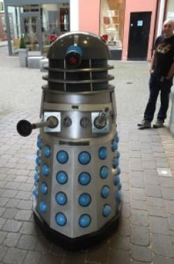 A possibly happy Dalek at the Lakes International Comic Art Festival. Photo: John Freeman