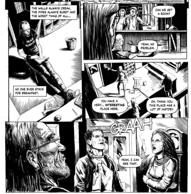 """Extract from """"Monsters In The Motel"""" written by Mike Lynch, artwork by Steve Austin"""