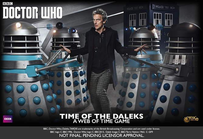 Gale Force Nine Doctor Who Board Game Mock Up
