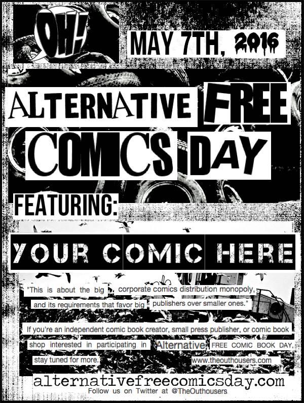 Alternative Free Comics Day 2016 Flyer