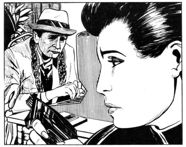 "One of the late Gerry Dolan's early forays into Doctor Who - an illustration for the short story ""The Infinity Season"", written by Dan Abnett, which featured in Doctor Who Magazine Issue 151."