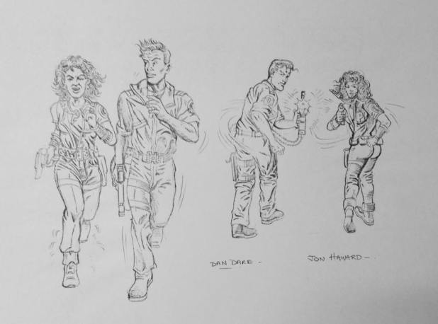 1990s Dan Dare Designs by Jon Haward