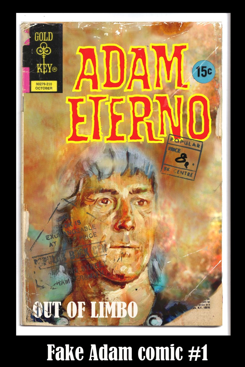 Adam Etterno reinvented for a fake Gold Key comic cover by Graham Hill. Adam Eterno © Rebellion Publishing Ltd