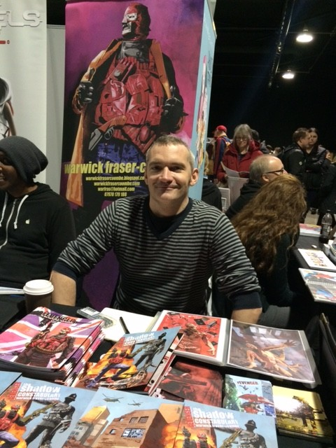 Warwick Fraser-Coombe at Thought Bubble 2015. Photo: Tony Esmond