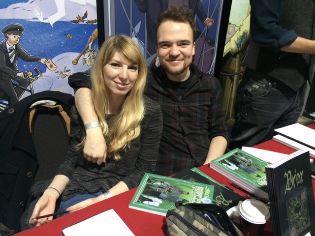 Laura Trinder and Christian Wildgoose at Thought Bubble 2015. Photo: Tony Esmond
