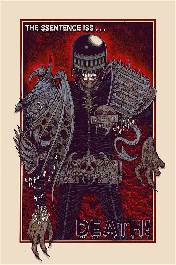 Judge Death by Florian Bertmer - Mondo Poster