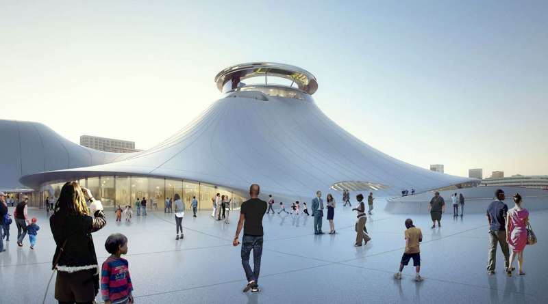 The Lucas Museum of Narrative Art's building is designed by award-winning architect Ma Yansong of MAD Architects.