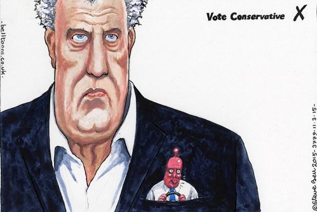 One of Steve Bell's cartoons for The Guardian. Art © Steve Bell