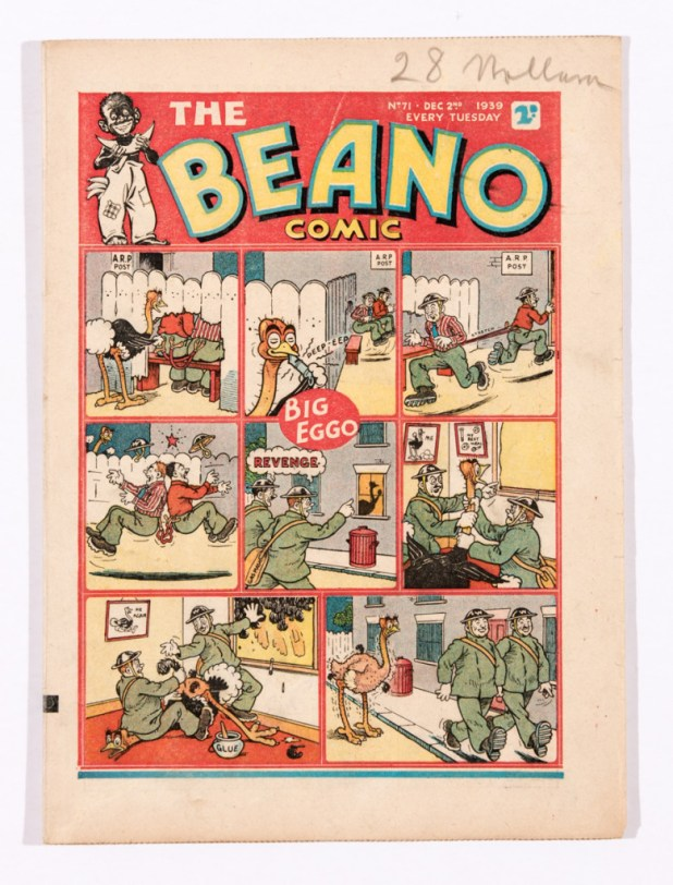 """Big Eggo"" gets a serious comeuppance in this wartime issue of The Beano (Issue 71)."