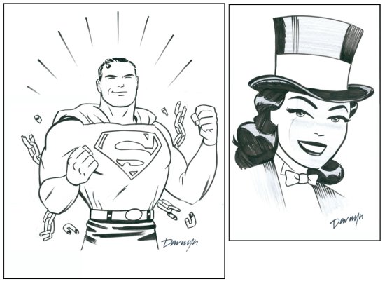 Superman and Zatana Art by Darwyn Cooke