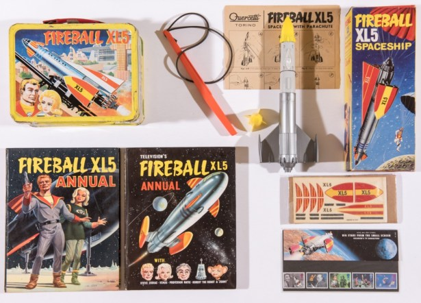 A great assembly of Fireball XL5 items is on offer.