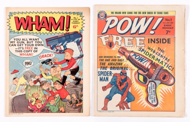 Wham! Issue One (published in 1964) and POW! Issue One (published in 1967)