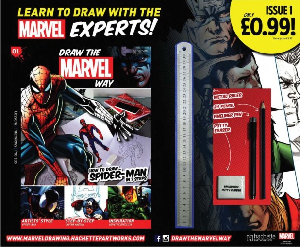 How To Draw The Marvel Way - Packshot
