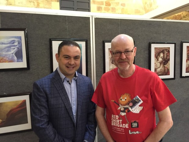 I was delighted to meet Malta's Culture Minister Owen Bonnici at Malta Comic Con. It's great to see government support for comics like this. Photo: Christopher Muscat