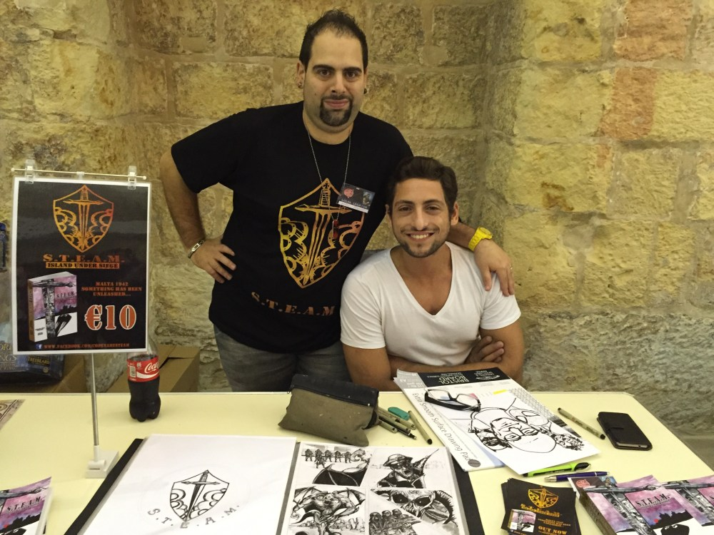Malta Comic Con 2015: Ashley Eric Peschel and Peter Magro