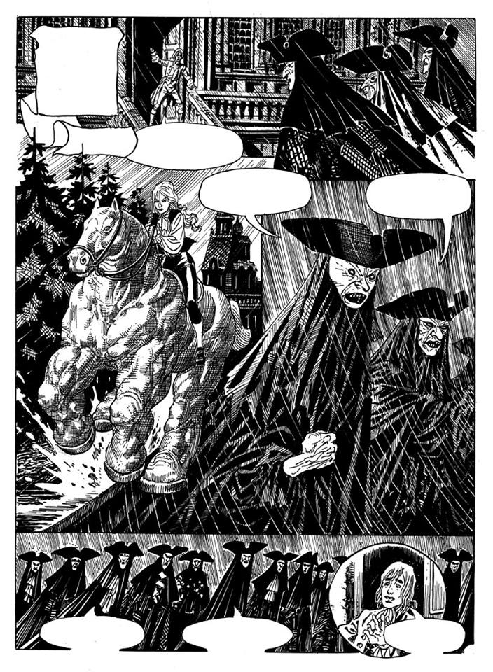 A page from Los Trashumantes (The Rovers). Written by Eduardo Mazzitelli