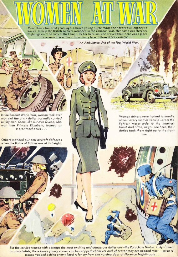 The Beezer Annual 1964: Women at War art by Ron Smith