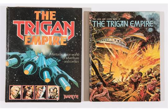 The Trigan Empire, published in 1978 by Hamlyn and The Trigan Empire (The Look & Learn Book of) Fleetway, published in 1973.