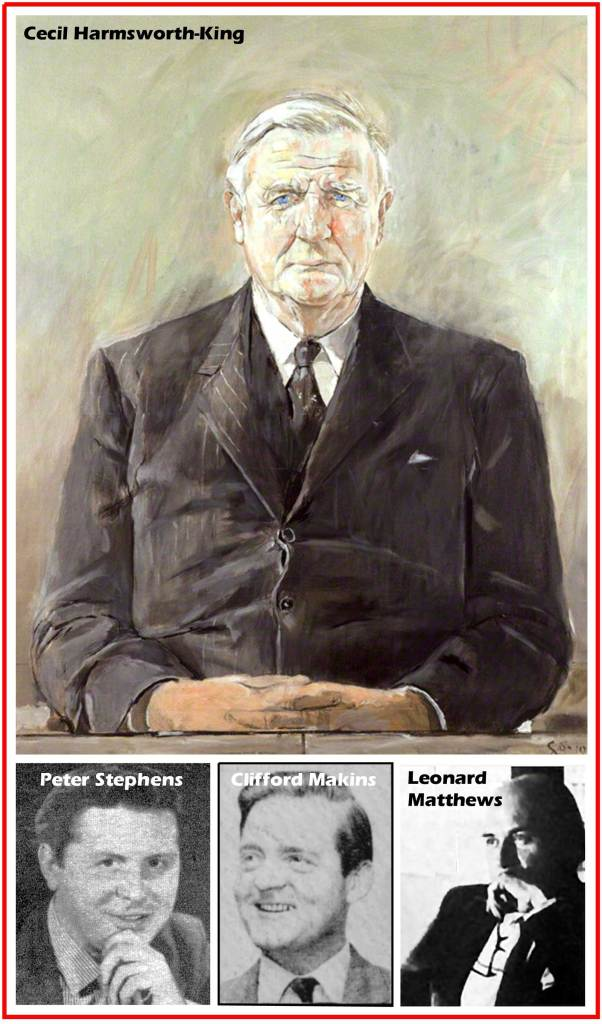 Cecil Harmsworth King, Peter Stephens, Clifford Makins and Leonard Matthews
