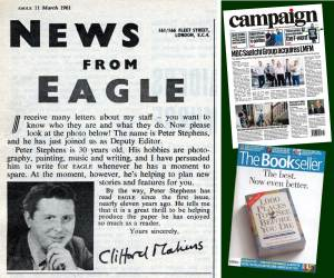 Peter Stephens, Campaign and The Bookseller
