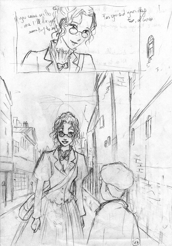 "Some of Jenika's pencils for her new ""Midnight Tea"" title"