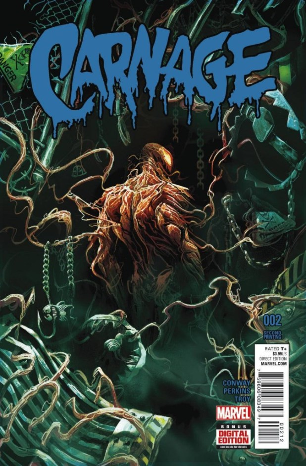Carnage #2 Del Mundo 2nd Printing Variant