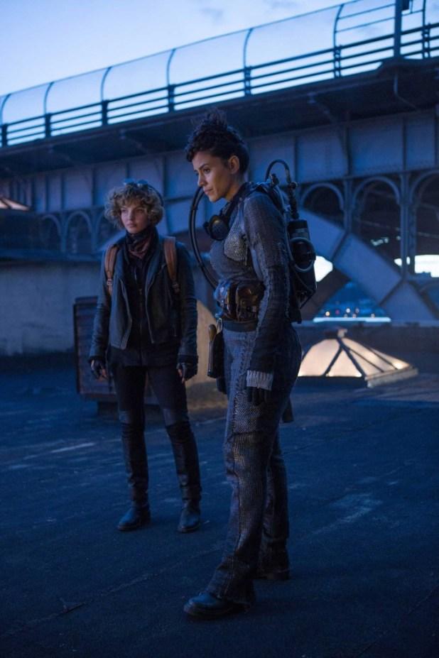 Camren Bicondova as Selina Kyle and Michelle Veintimilla as Firefly.
