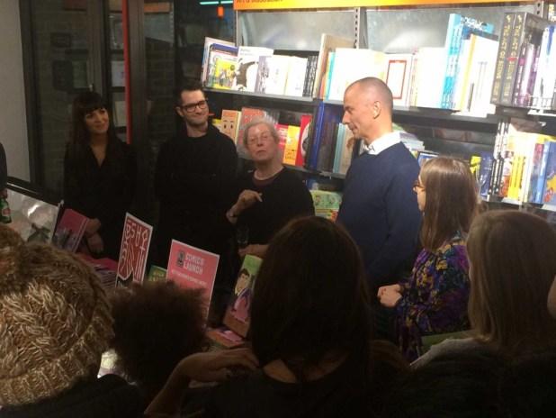 Sophie Standing, Mike Medaglia, Jessica Kingsley, Steve Haines and Maria Stoian. Photo: Antony Esmond