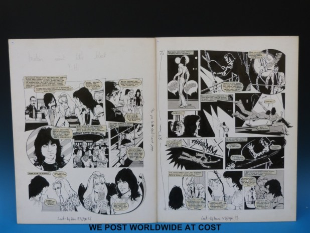 "A Look-In ""David Cassidy"" strip by Alan Parry for Issue 37"