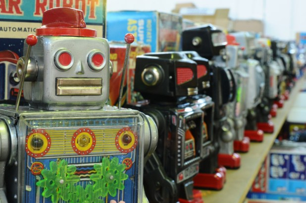 Just some of the robots that will be in the Vectis auction in March 2016. Image courtesy Vectus