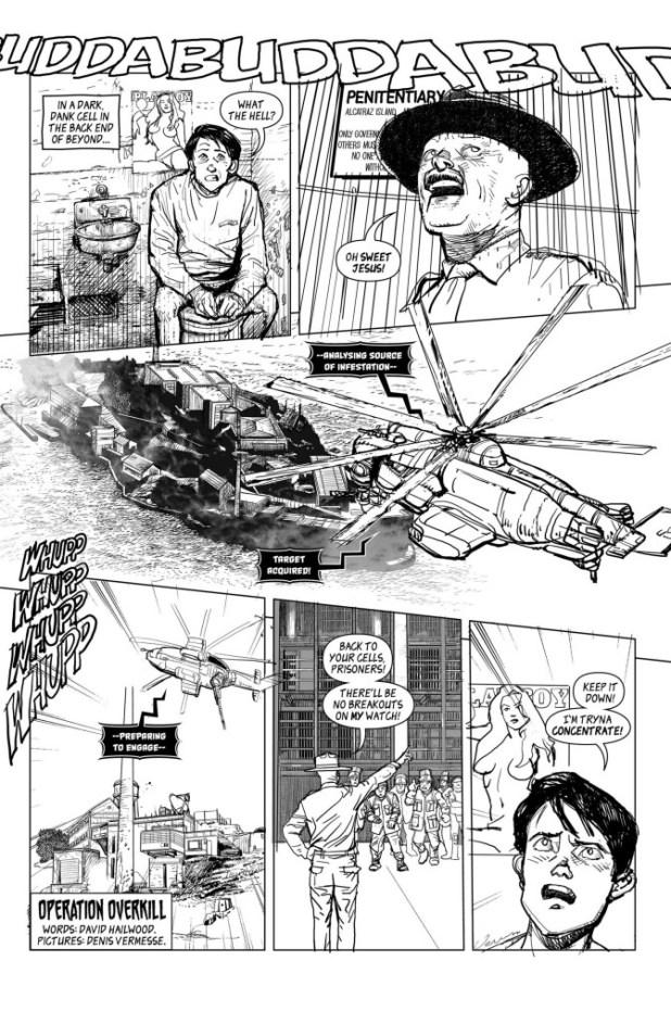 """""""Operation Overkill"""", written and lettered by David Hailwood, art by Denis Vermese"""