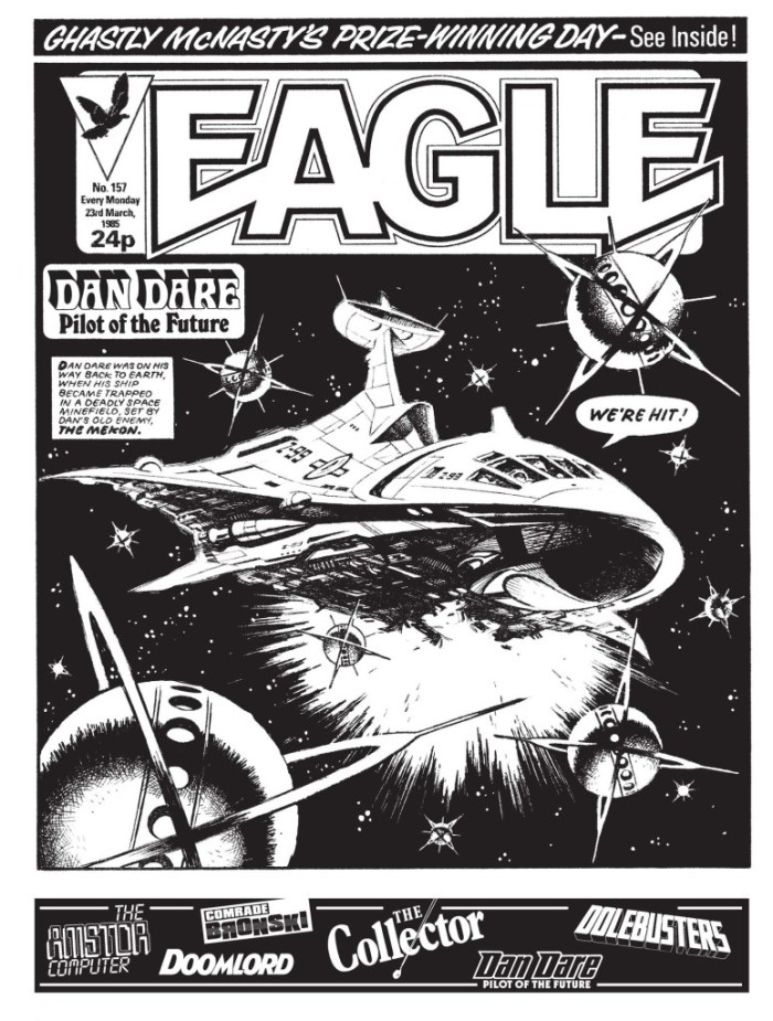 "A page from the Dan Dare story ""Mekon Minefield"", drawn by Ian Kennedy"