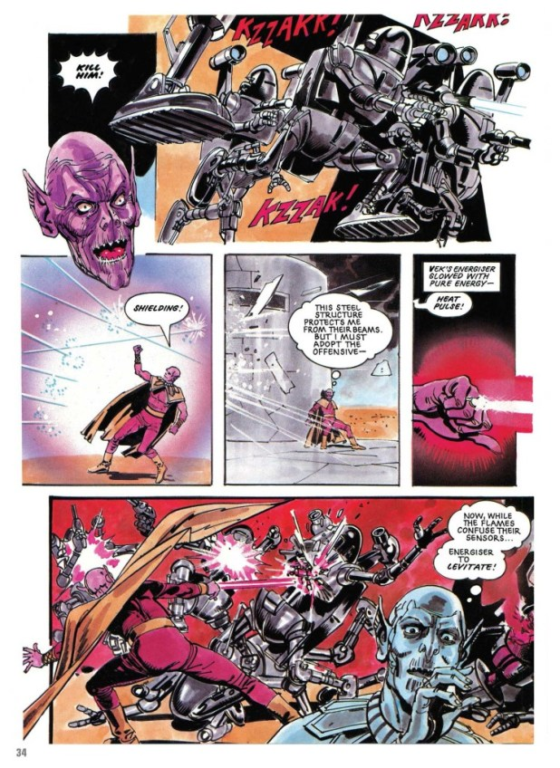Doomlord - Servitor Vek, drawn by Jim Baikie (writer unknown), lettered by Steve Potter
