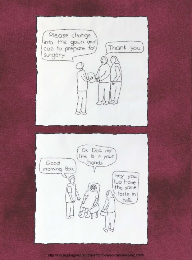 'Embroidered Cancer Comic' by Sima Elizabeth Shefrin - Sample 3