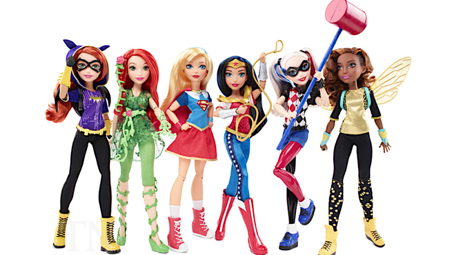 The first DC Super Hero Girls figures, on sale in US store Target