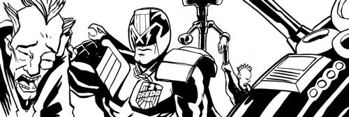 """Judge Dredd - The Boys Next Door"" by writer Lee Robson and artist Jim Lavery"