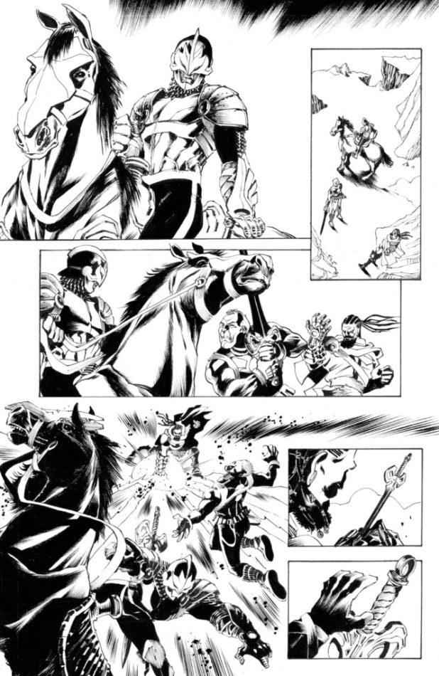 Art from Marvel's Black Knight by Luca Pizzari