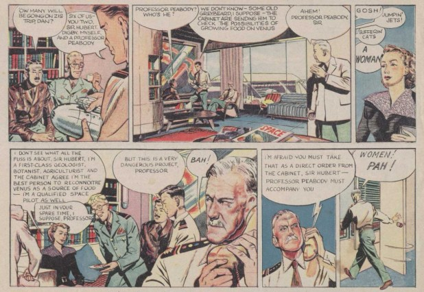 "Professor Peabody's controversial arrival in ""Dan Dare"", Eagle No. 5"