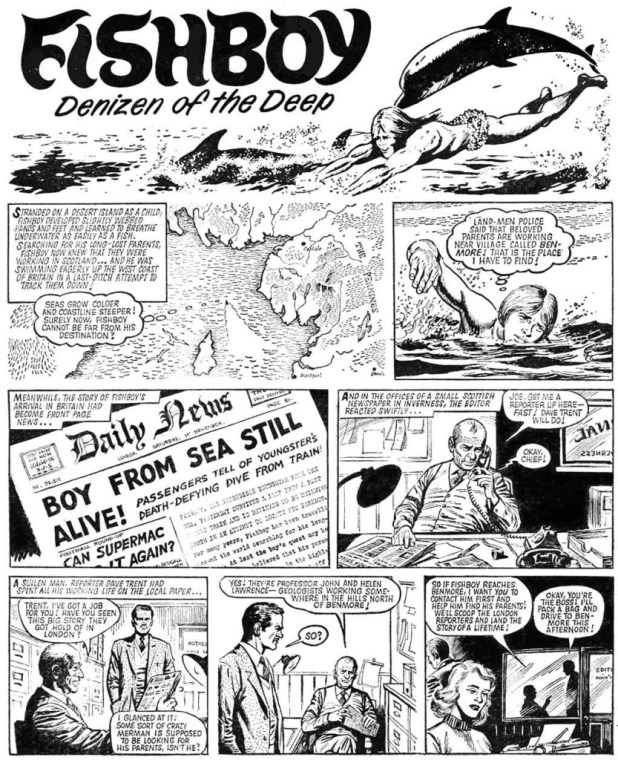 Fishboy - Buster, cover dated 1st November 1975 Page 1
