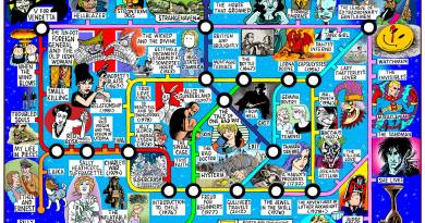 """Great British Graphic Novel """"Tube Map"""" by Hunt Emerson"""