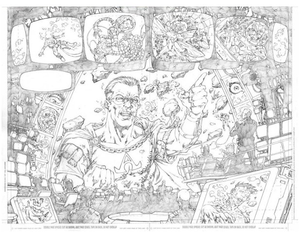 Some of Ian Richardson's pencils for The Unthinables