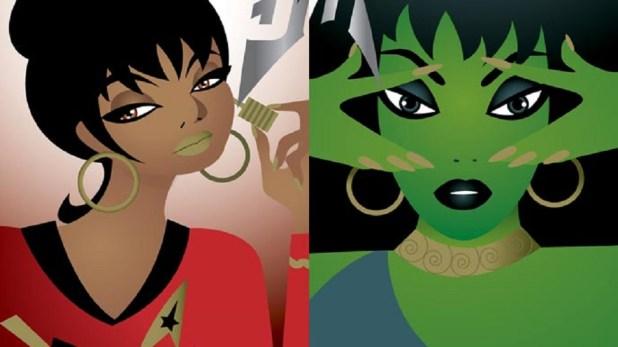 MAC Star Trek Make-Up Promotion - Uhura and Vina