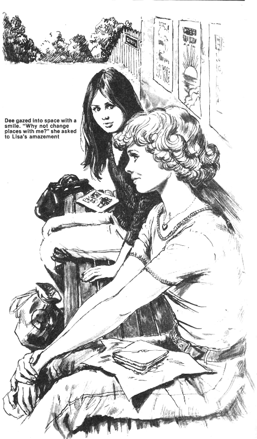 "An illustration for a text story, ""Masquerade"", published in the 1979 Jinty Special"