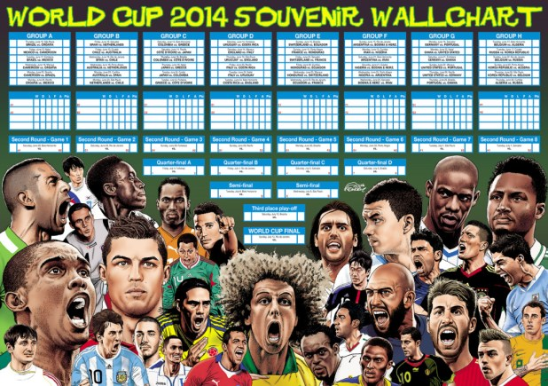 Sunday Times World Cup 2014 Poster by Steve McGarry