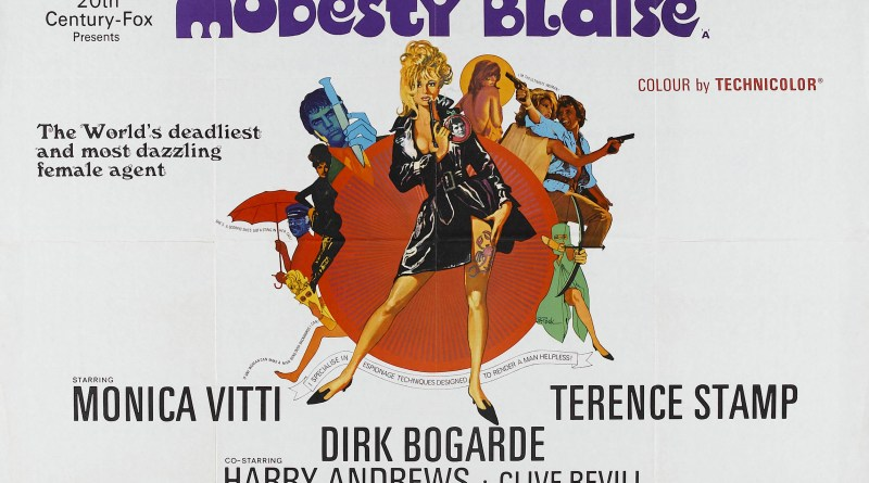 Modesty Blaise 1966 Film Poster