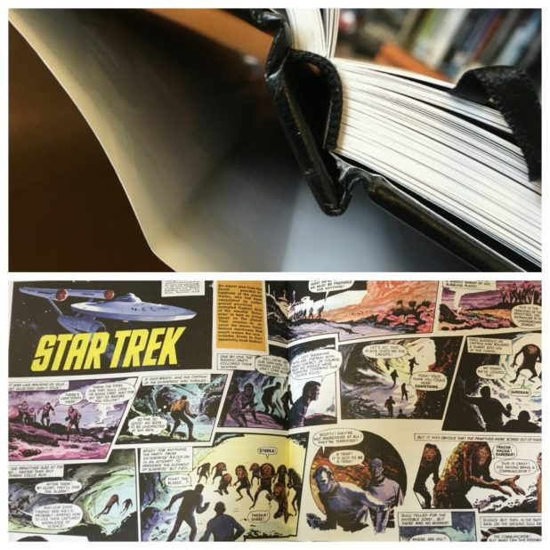 The binding on Star Trek - The Classic UK Comics has drawn some criticism on first sight from fans, but panic not - it does work on those double page spreads!